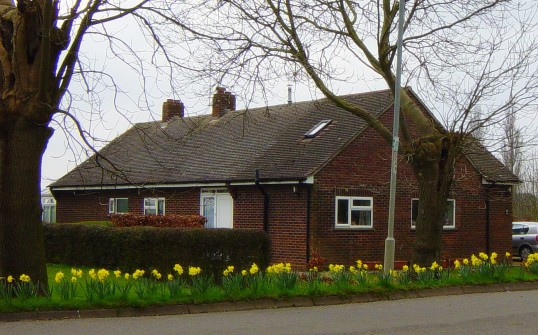 Spring has arrived and the daffodils are in bloom outside 'Chidro', 10, Pymoor Lane, Pymoor, 2009.