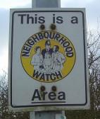 Neighbourhood Watch Sign in Pymoor Lane, Pymoor.