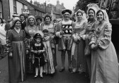 Cynthia Parson of Pymoor, dressed as one of Henry VIII's wives at the Ely Hospital Sunday, 1970.