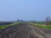 Furlong Drove, Pymoor, seen from Pymoor Lane looking North towards Pymoor Sidings.