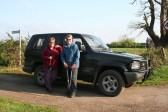 'Pygore Spring Clean', Pymoor. Cynthia Parson and Rosemary Davis arrive early ready for action 2009.