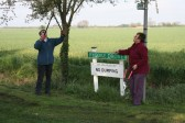 'Pygore Spring Clean', Pymoor. Cynthia Parson advises Rosemary Davis what needs to be done.