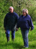 Tony and Penny Buckingham at the 'Pygore Spring Clean', Pymoor.