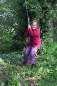 'Pygore Spring Clean', Pymoor. Cynthia Parson takes a well earned break. It was not all work and no play!