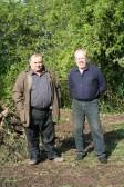 'Pygore Spring Clean', Pymoor. Parish councillors Baz Taylor and Owen Winters.