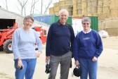 Inger Van Ogtrop with Roger & Rosemary Davis visiting Mount Pleasant Farm, Main Street, Pymoor.
