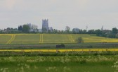 Ely Cathedral seen from Pymoor Lane, Pymoor, 2009.