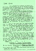 The Manifesto of Owen Winters, of Third Drove, Little Downham, Pymoor, who was an Independent candidate in the Council Elections, 2009.