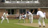 Chris Baker of Pymoor CC clean bowls the Wilburton batsman in the match played on the sportsground in Pymoor Lane, Pymoor.
