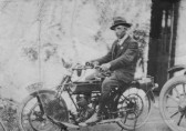 Jack Taylor of Pymoor on his motorcycle.