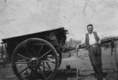 Jack Taylor of Pymoor with his newly painted cart.