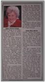 Obituaries for Betty Heaps and Hazel Martin of Pymoor.