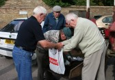 Alan Butcher of Pymoor collects the fruits of his labours at the Good Companions Potato Competition 2009.