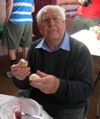 Eddie Holden at the Pymoor Methodist Chapel Collectables Fair 2009.