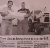 Newspaper article about the forthcoming Pymoor Show 2009 to be held on the Pymoor Cricket Club field in Pymoor Lane, Pymoor.