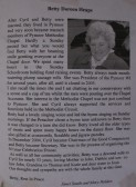 A tribute in the Parish Magazine to Betty Heaps of Pymoor, 2008.