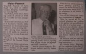 Newspaper obituary of Walter Pearson of Oxlode and Pymoor who passed away on the 18th September 2000 aged 82.