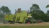 Eric Barker on a combine harvester in his field off Pymoor Lane, Pymoor.