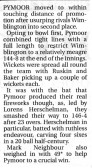 Report in the Ely Standard about Pymoor CC's victory at Wimblington 2009.
