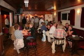Villagers and guests enjoy refreshments at the Annual Pymoor Show Charity Cheque Presentation Evening 2009 at the Pymoor Social Club.