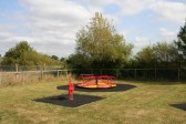 The Children's Play Area in next to the Pymoor Cricket Club, Pymoor Lane, Pymoor. A grant has been applied for to refurbish the Play Area, 2009.