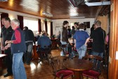 Competitors gather in the clubhouse before the start of the Pymoor Cricket and Social Club Car Treasure Hunt.It was very well suppported.