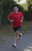 Adam Knowles keeps fit with a jog in Pymoor Lane, Pymoor, 2009.