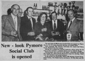 The opening of the Pymoor Social Club, Pymoor, by Mr H Corke, financial director of Greene King, 1969