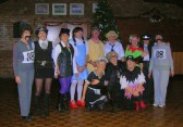The Line Dancing Group at the Pymoor Social Club in 'fancy dress' for their Christmas Party celebrations.