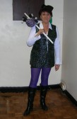 Christine Saberton came as 'Dick Whittington' at the Line Dancing Group's Christmas Party celebrations at the Pymoor Social Club, 2009