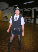 Jane Bacon at the Line Dancing Group's Christmas Party celebrations at the Pymoor Social Club.