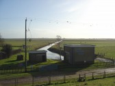 Oxlode Pumping Station seen from the Hundred Foot Bank, Oxlode, Pymoor, 2010.