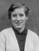 Joan Butcher (nee Goodjohn) of Pymoor aged 13 1955
