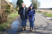Alan & Joan Butcher make their way along Pymoor Lane, during the Pymoor & Oxlode Walk 2010.