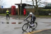A competitor turns into Pymoor Lane, Pymoor during the Ely Cycle Club's 25 mile race 2010.