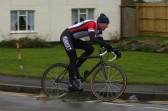A competitor turns into Pymoor Lane, Pymoor during the Ely Cycle Club's 25 mile race. 2010