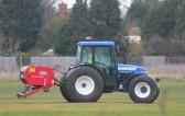 Airiating the Pymoor Cricket Club field, Pymoor Lane, Pymoor, 2010.