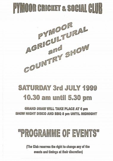 The 1st Pymoor Agricultural & Country Show.