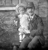 Pymoor Postman Charlie Brown with his son Horace (circa 1912)