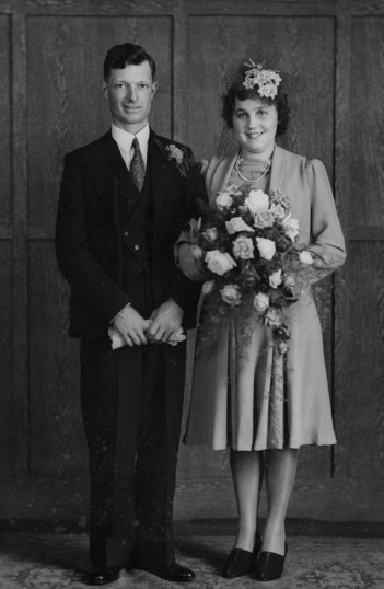 Albert & Nora Barlte of Pymoor on their Wedding Day.