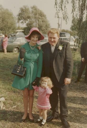 Ann, Alan & Lynne Golding outside the Pymoor Methodist Chapel, Main Street, Pymoor.