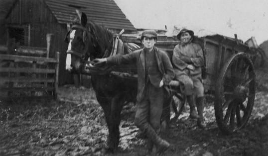 Harry Barker & Horace Martin at Dunkirk, Pymoor, circa 1921.