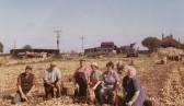 Ivan Martin, Albert Thompson, Horace Martin, Lily Thompson, Iris Moxon & Daisy Martin at Rose Hill Farm, Dunkirk, Pymoor.