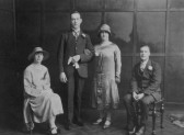 Violet & William Day with Elsie & William Pearson of Pymoor.