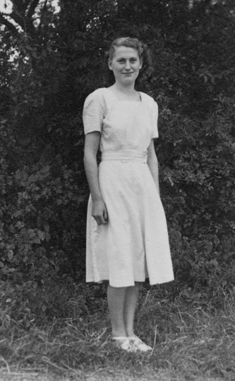 Audrey Goodjohn of Pymoor circa 1948.