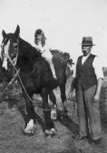 Norma Breeze of Pymoor on a horse.