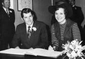 Trevor & Susan Taylor of Pymoor on their Wedding Day, 1971.