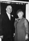Jack & Caroline Taylor at the reception held at the Pymoor Cricket Club, Pymoor Lane, Pymoor, after Trevor & Susan Taylor's Wedding.
