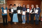 The Pymoor Line Dancing Group with their Gold & Bronze Medals & Certificates in Country & Western Line Dancing, 2010.