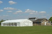 A large marquee was erected on the Pymoor Cricket Club ground in Pymoor Lane for a wedding reception.
